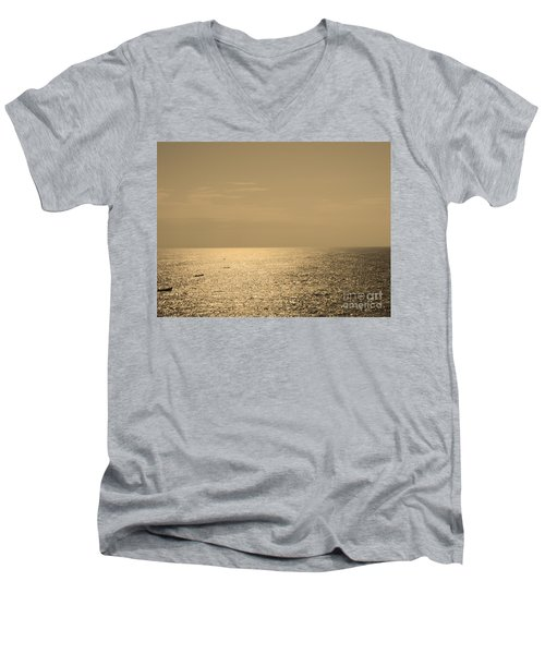 Calm Arabian Sea Men's V-Neck T-Shirt by Mini Arora