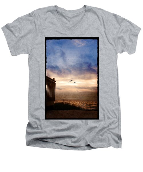 Calm Men's V-Neck T-Shirt