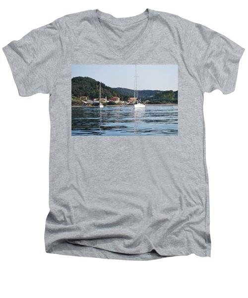 Calm Sea 2 Men's V-Neck T-Shirt by George Katechis