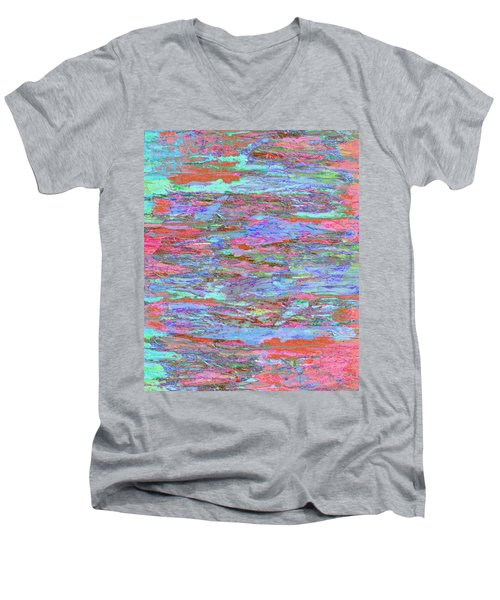 Men's V-Neck T-Shirt featuring the digital art Calmer Waters by Stephanie Grant