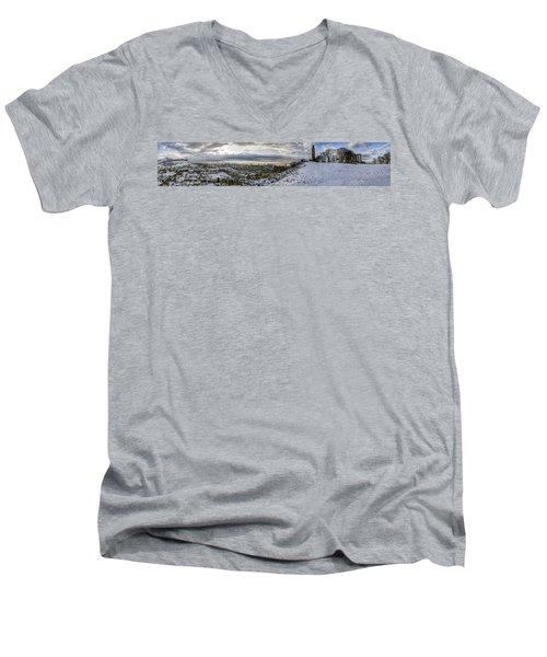 Calton Hill Panorama Men's V-Neck T-Shirt