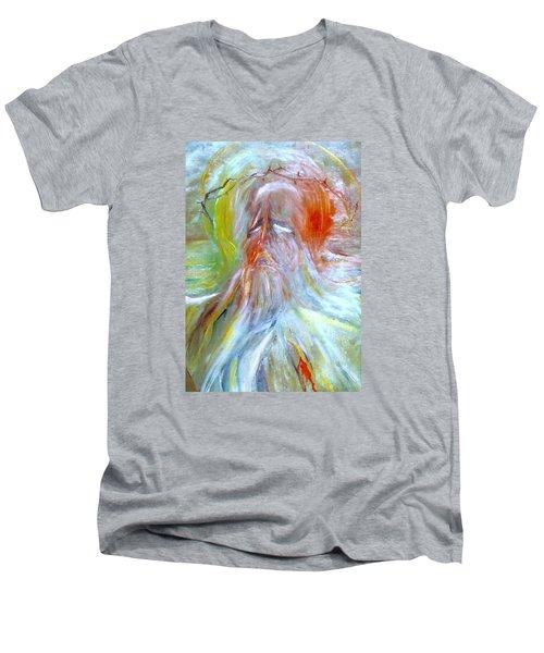 Calvary Men's V-Neck T-Shirt by Henryk Gorecki