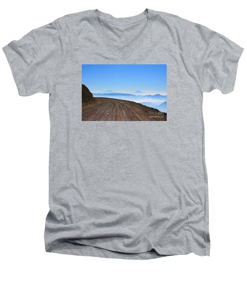 Camino En Volcan Nevado De Toluca Men's V-Neck T-Shirt