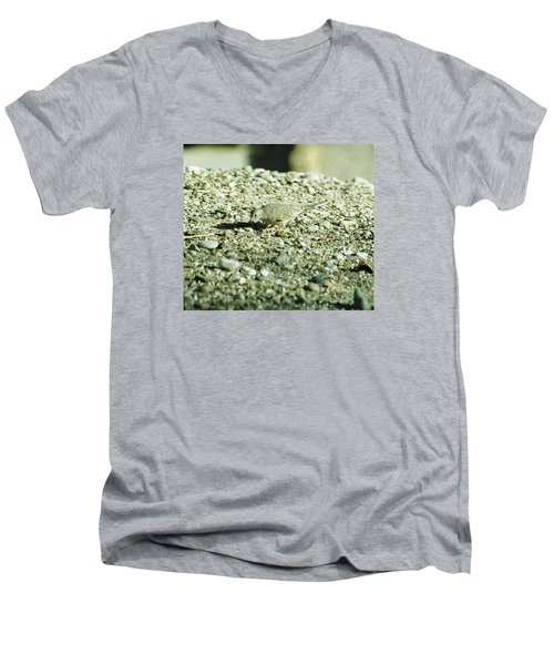 Men's V-Neck T-Shirt featuring the photograph Arizona Camo Bird by Belinda Lee