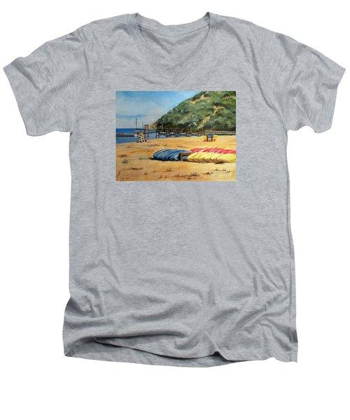 Camp Del Corazon  Men's V-Neck T-Shirt by Lee Piper