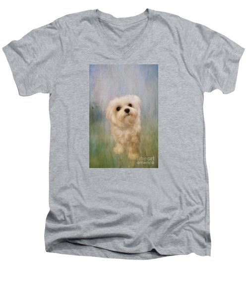 Can We Play Now Men's V-Neck T-Shirt by Lois Bryan
