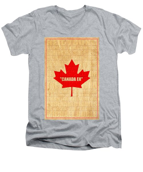 Canada Music 1 Men's V-Neck T-Shirt