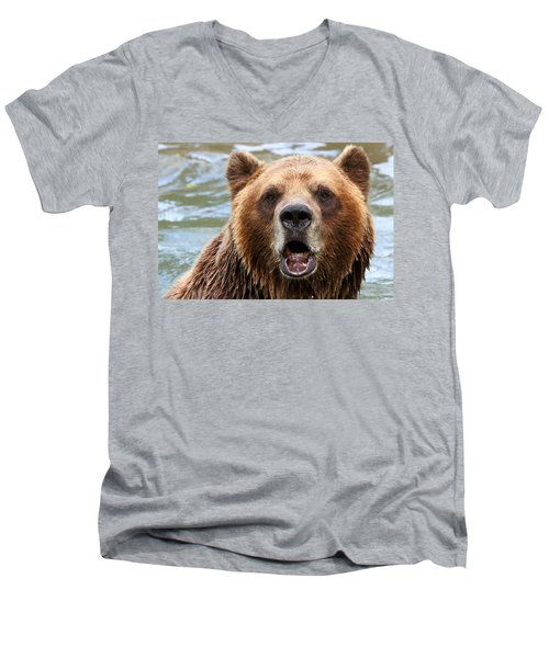 Canadian Grizzly Men's V-Neck T-Shirt