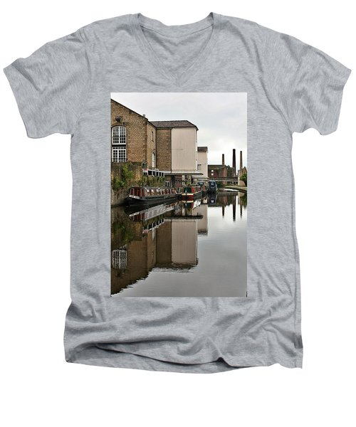 Canal And Chimneys Men's V-Neck T-Shirt