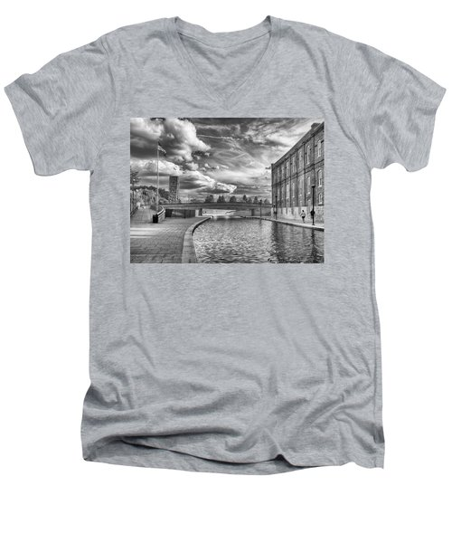 Canal Walk Men's V-Neck T-Shirt by Howard Salmon