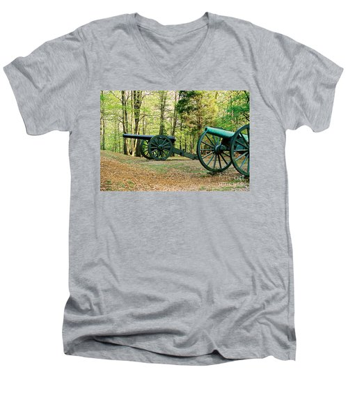 Cannons I Men's V-Neck T-Shirt