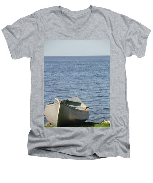 Men's V-Neck T-Shirt featuring the photograph Canoe by Tiffany Erdman