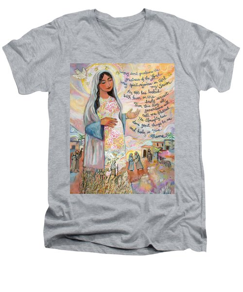 Canticle Of Mary Men's V-Neck T-Shirt