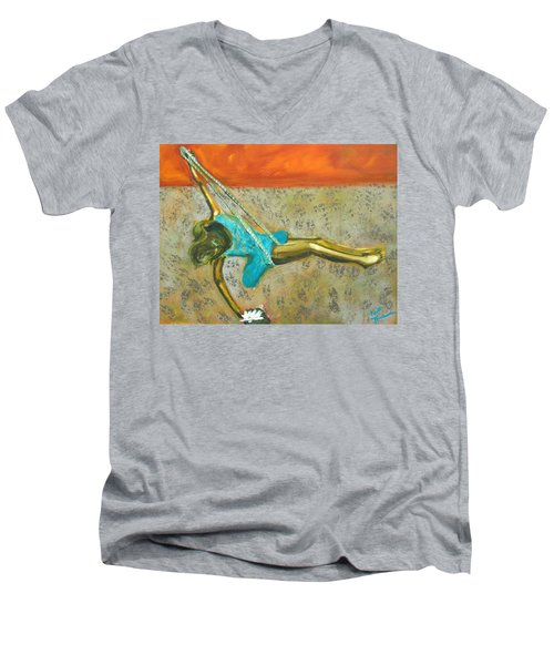 Canyon Road Sculpture Men's V-Neck T-Shirt