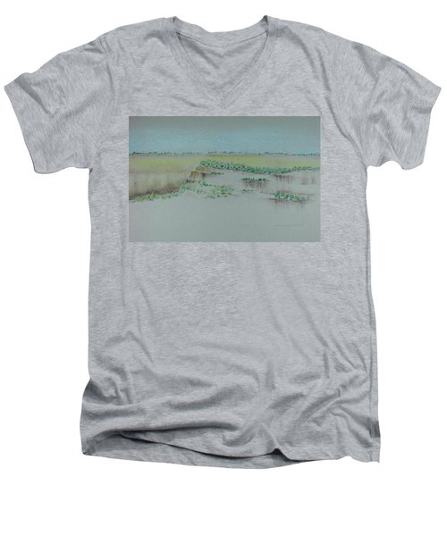Canyon View Men's V-Neck T-Shirt by Michele Myers