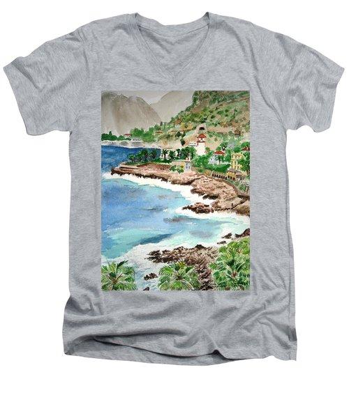 Cap D'ail On A Rainy Day Men's V-Neck T-Shirt