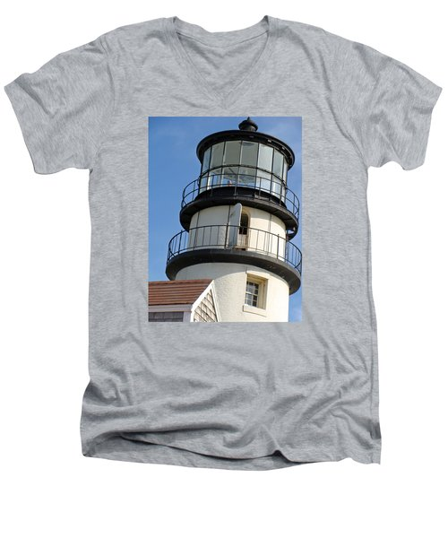 Men's V-Neck T-Shirt featuring the photograph Cape Cod Lighthouse by Ira Shander