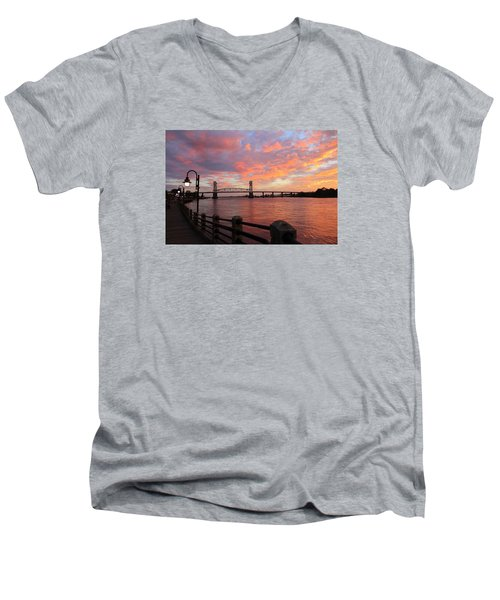 Cape Fear Bridge Men's V-Neck T-Shirt