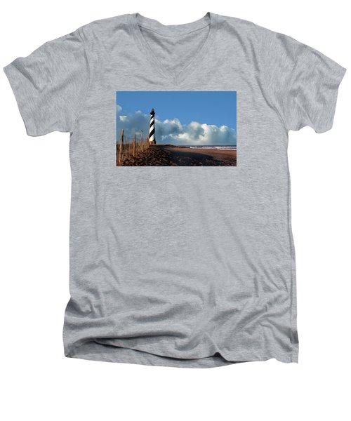Cape Hatteras Lighthouse Nc Men's V-Neck T-Shirt