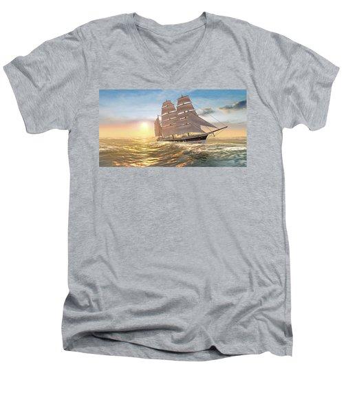 Captain Larry Paine Clippership Men's V-Neck T-Shirt