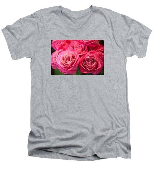 Capturing A Bouquet Men's V-Neck T-Shirt