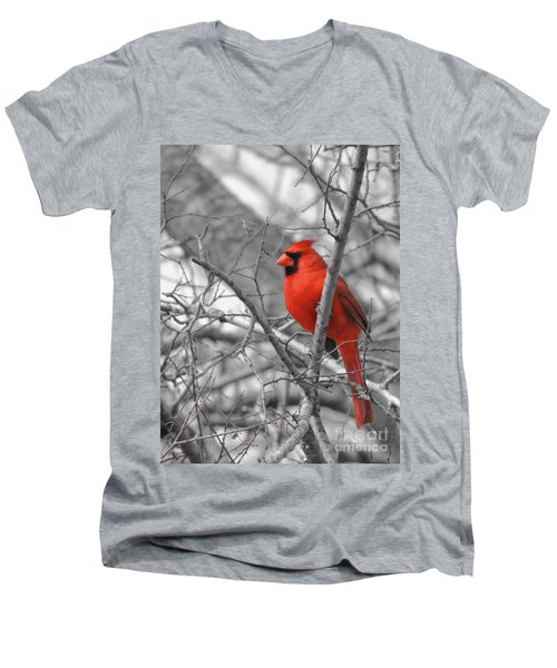 Cardinal Of Hope 002sc Men's V-Neck T-Shirt