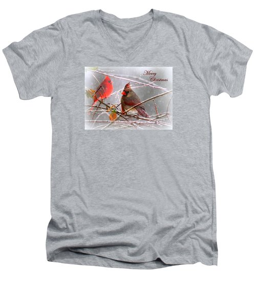 Cardinals - Male And Female - Img_003card Men's V-Neck T-Shirt