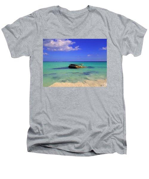 Men's V-Neck T-Shirt featuring the photograph Caribbean Colors  by Eti Reid