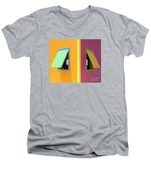 Men's V-Neck T-Shirt featuring the photograph Caribbean Corner 3 by Randall Weidner