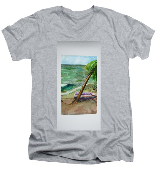 Caribbean Morning II Men's V-Neck T-Shirt