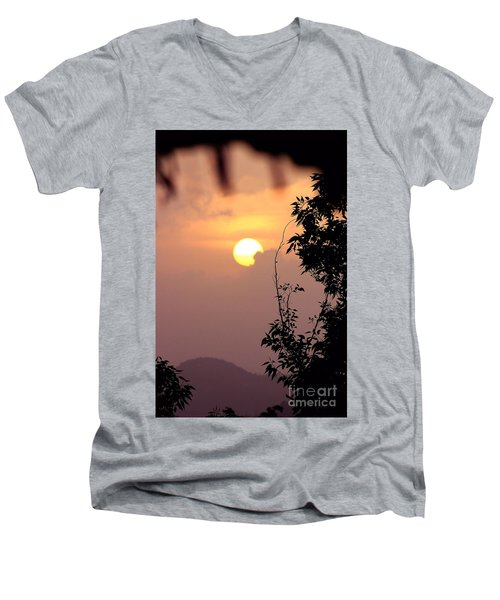 Men's V-Neck T-Shirt featuring the photograph Caribbean Summer Solstice  by The Art of Alice Terrill