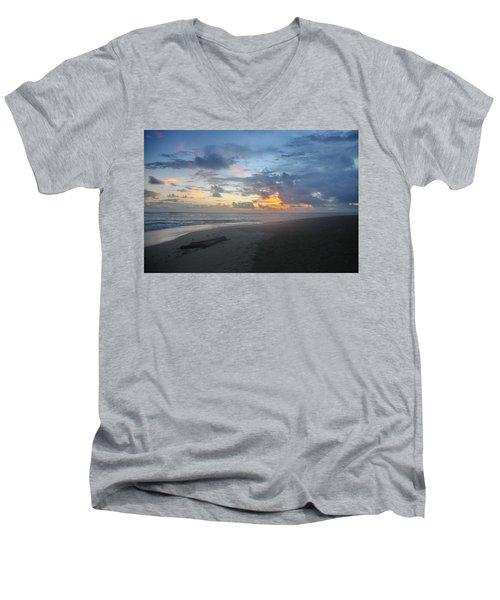 Caribbean Sunrise Men's V-Neck T-Shirt