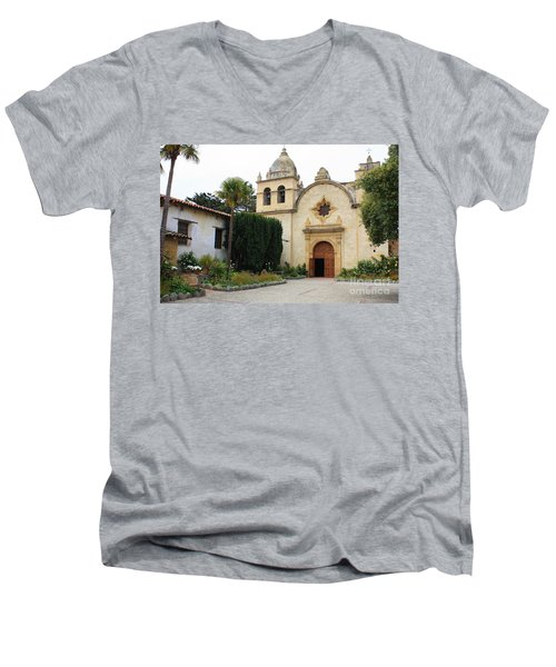 Carmel Mission Church Men's V-Neck T-Shirt