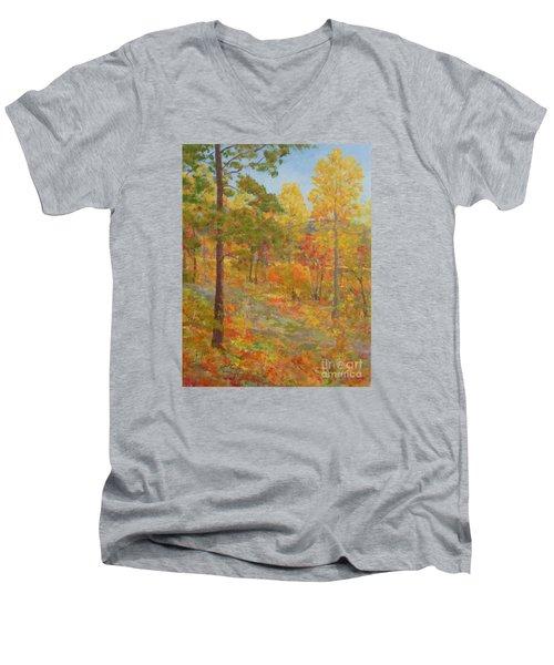 Carolina Autumn Gold Men's V-Neck T-Shirt