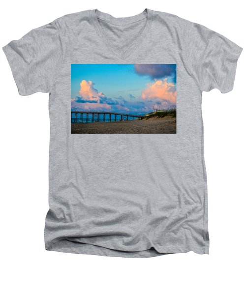 Carolina Blue Over Kure Beach Men's V-Neck T-Shirt