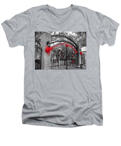 Carousel Gardens - New Orleans City Park Men's V-Neck T-Shirt by Deborah Lacoste