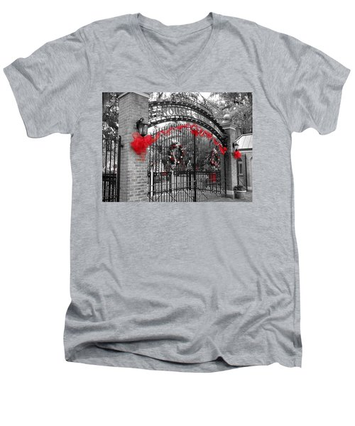 Carousel Gardens - New Orleans City Park Men's V-Neck T-Shirt
