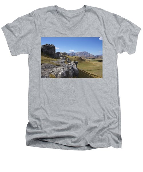 Men's V-Neck T-Shirt featuring the photograph Castle Hill #6 by Stuart Litoff
