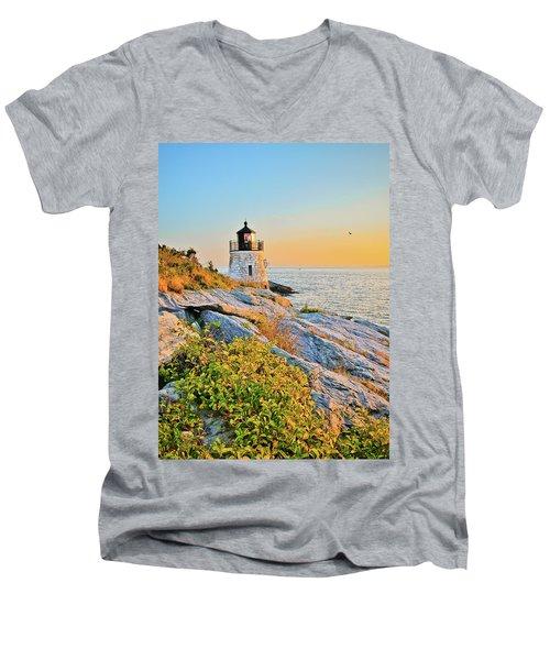Castle Hill Lighthouse 1 Newport Men's V-Neck T-Shirt