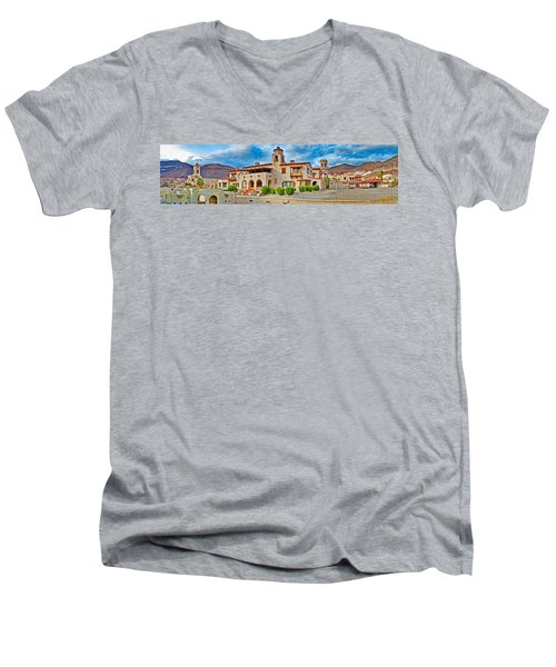 Castle In A Desert, Scottys Castle Men's V-Neck T-Shirt