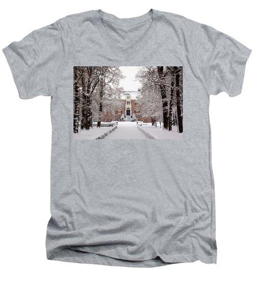 Castle In Winter Dress  Men's V-Neck T-Shirt