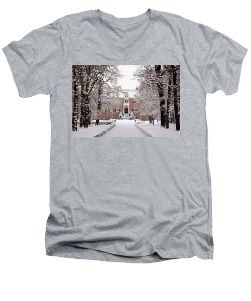 Castle In Winter Dress  Men's V-Neck T-Shirt