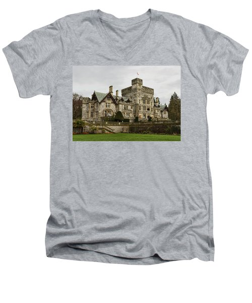 Hatley Castle Men's V-Neck T-Shirt by Marilyn Wilson