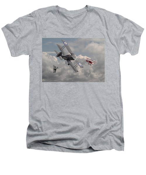 Cat Among The Pigeons Men's V-Neck T-Shirt