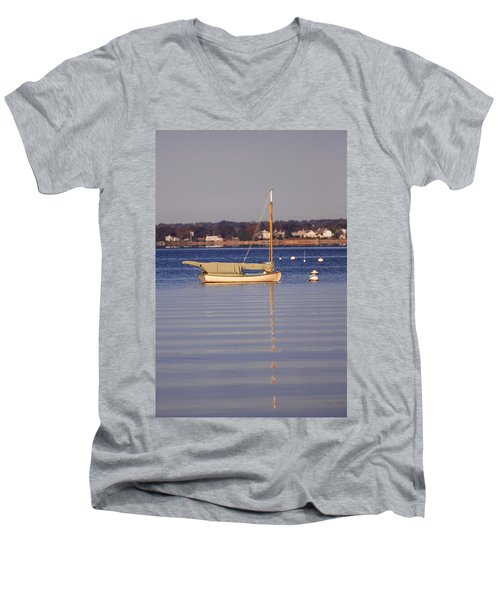 Cat Boat Men's V-Neck T-Shirt