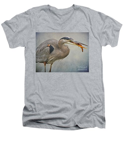 Catch Of The Day Men's V-Neck T-Shirt by Heather King