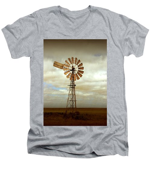 Catch The Wind Men's V-Neck T-Shirt by Holly Kempe