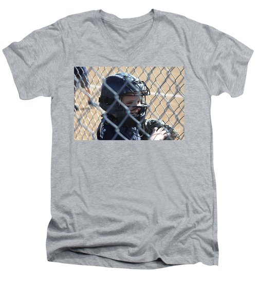 Catcher Men's V-Neck T-Shirt