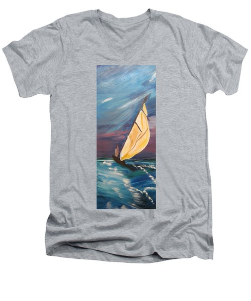 Catching The Wind Men's V-Neck T-Shirt