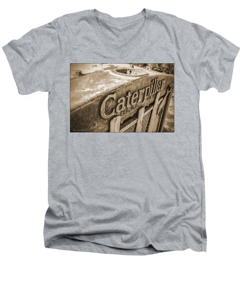 Caterpillar Vintage Men's V-Neck T-Shirt